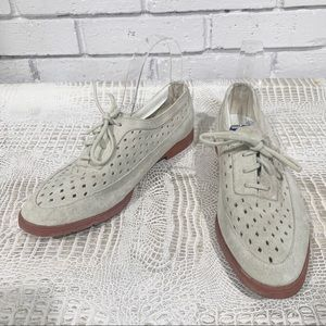 Hush Puppies Women's Gray Perforated Oxford